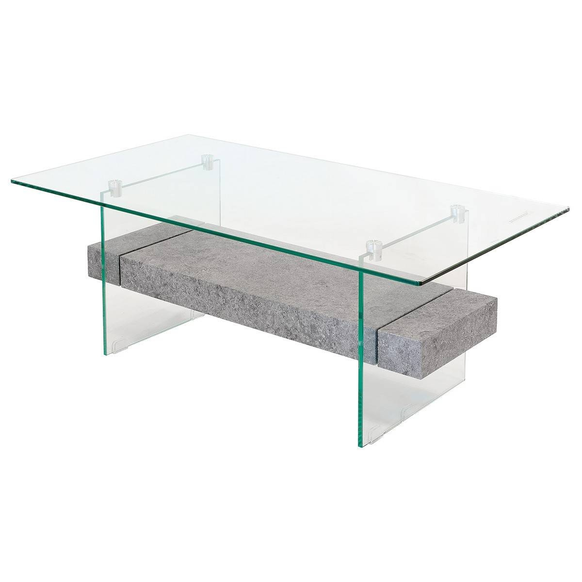 Stone Effect Glass Coffee Table – Be Fabulous! Regarding Stone And Glass Coffee Tables (View 3 of 15)