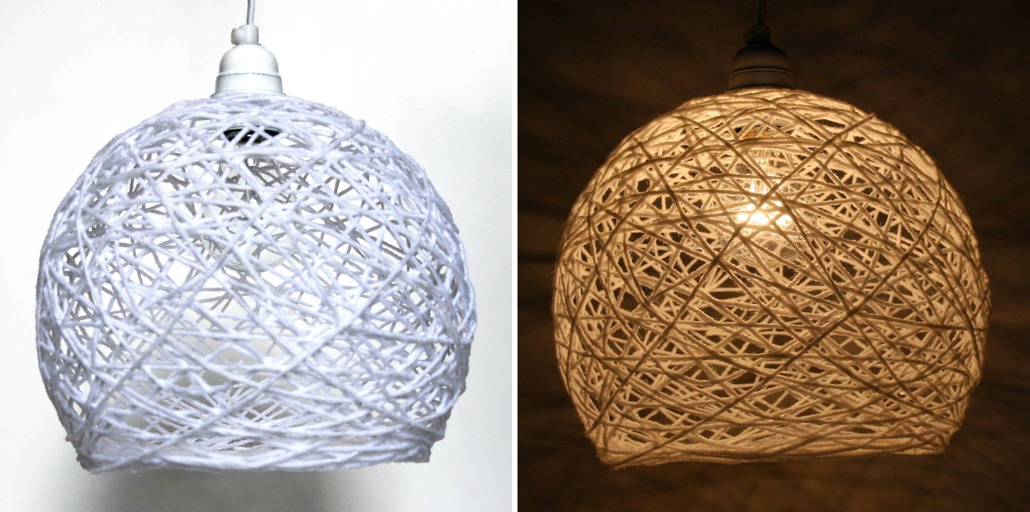 String Light – An Exercise In Patience | The 3 R's Blog pertaining to Diy Yarn Lights (Image 13 of 15)