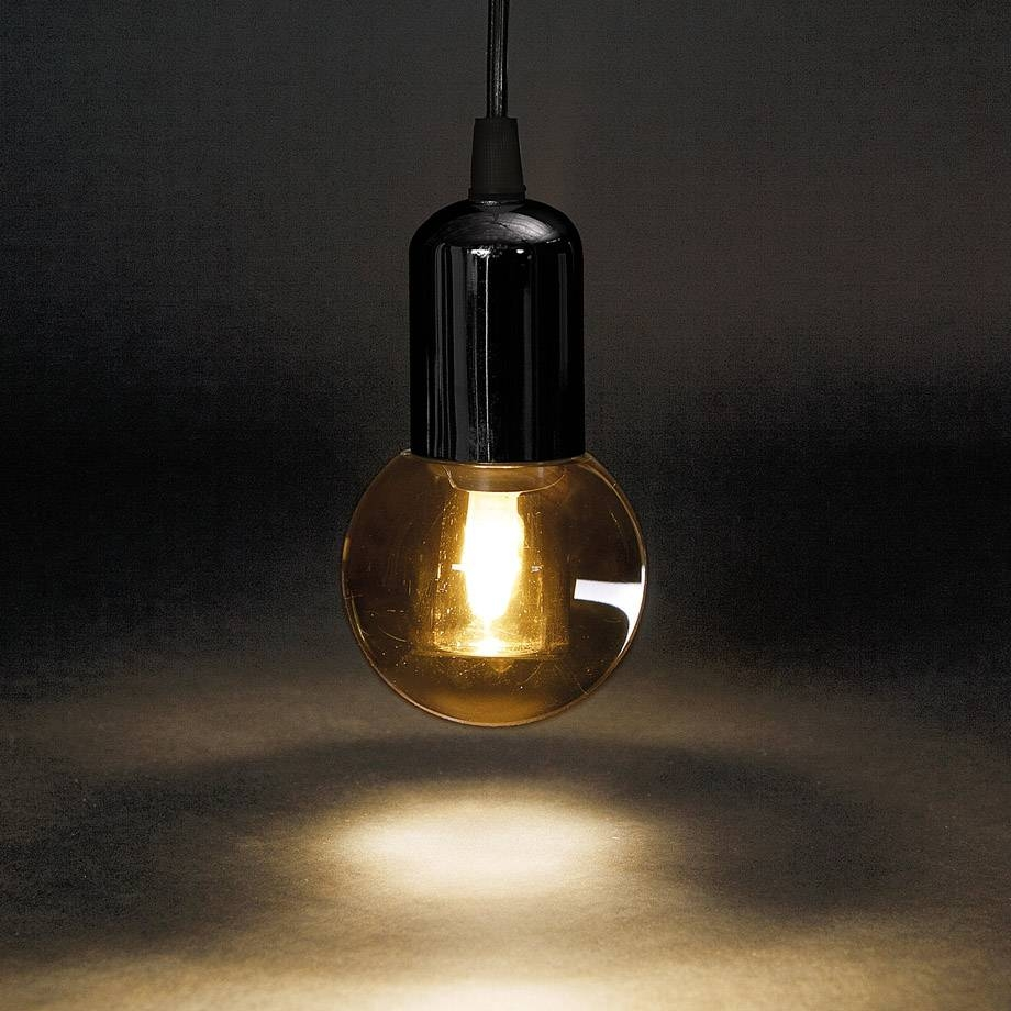 String Lights: Why Is It So Chic Now To Hang Bare Bulbs? pertaining to Bare Bulb Pendant Lights Fixtures (Image 12 of 15)