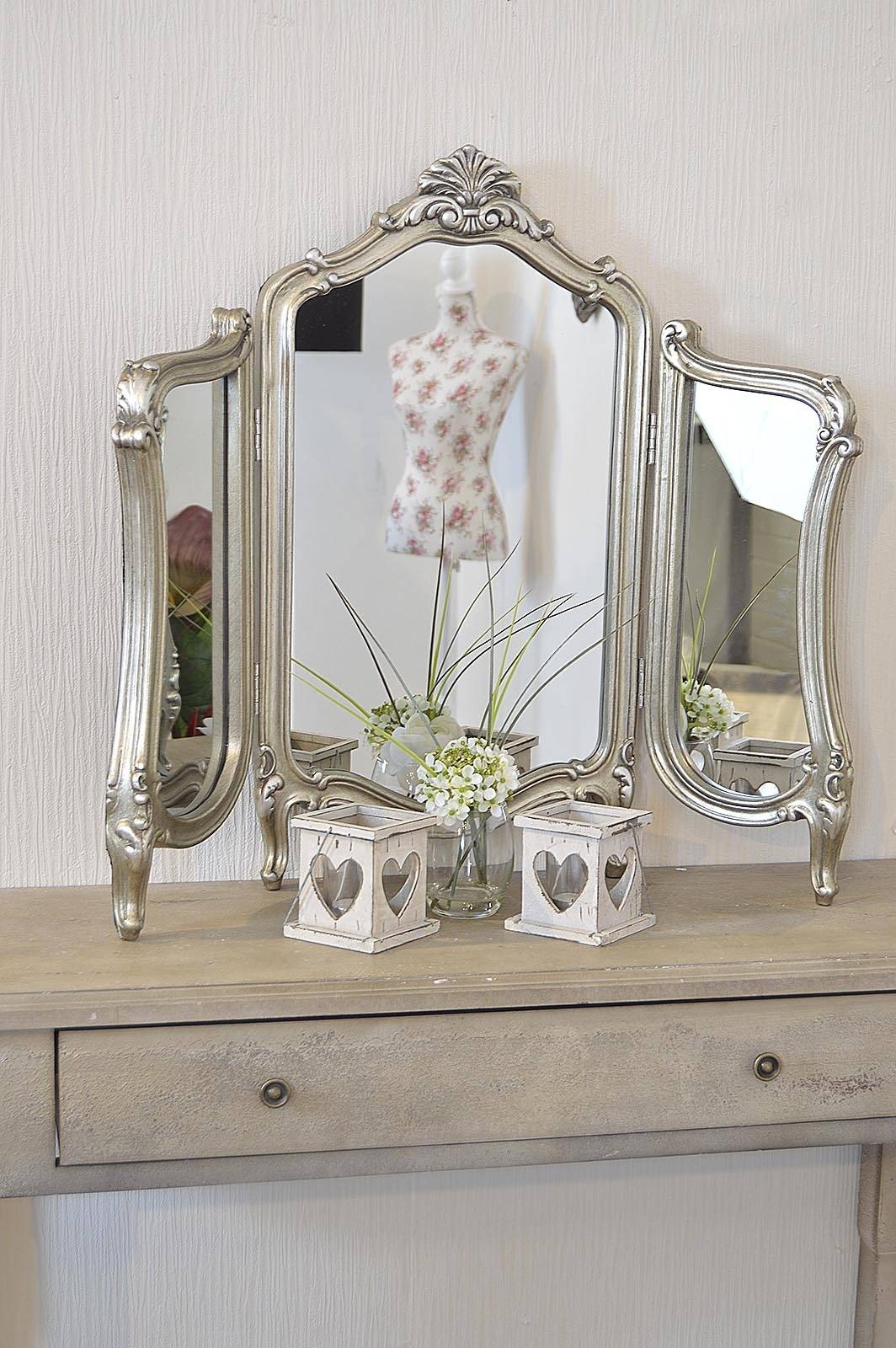 Stunning Antique Design Free Standing Dressing Table Mirror - M315 regarding Free Standing Table Mirrors (Image 9 of 15)