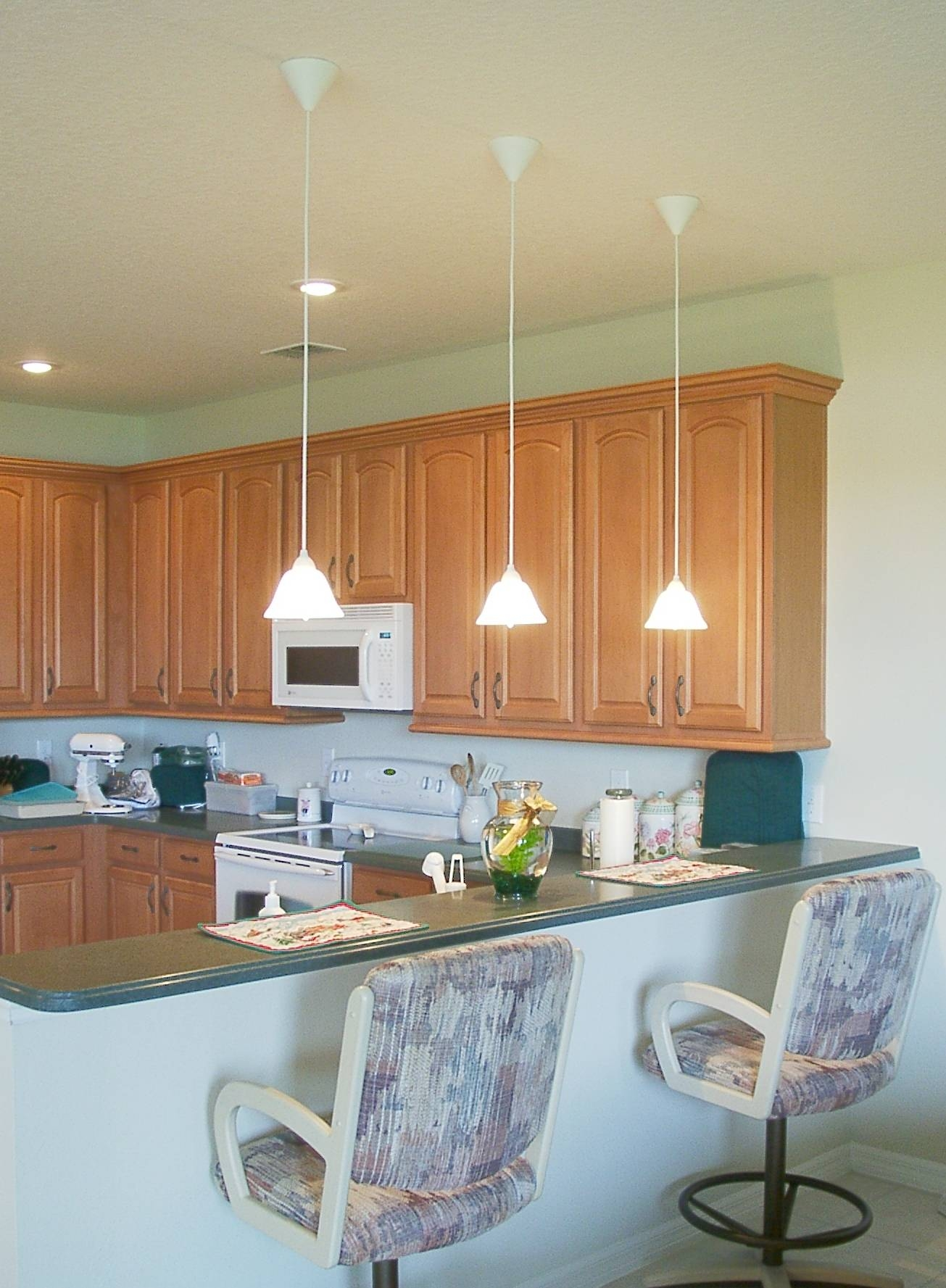 Stunning Hanging Lights In Kitchen With Pendant Light Fixtures with Contemporary Mini Pendant Lighting for Kitchen (Image 15 of 15)
