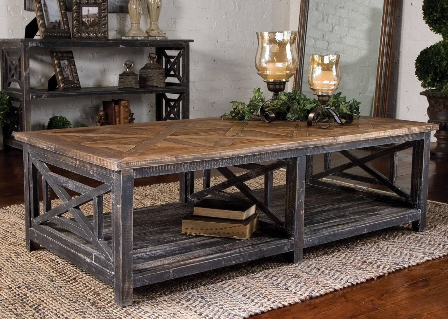 Stunning Rustic Coffee Table Ideas With Kitchen Beautiful Modern within Large Rustic Coffee Tables (Image 12 of 15)