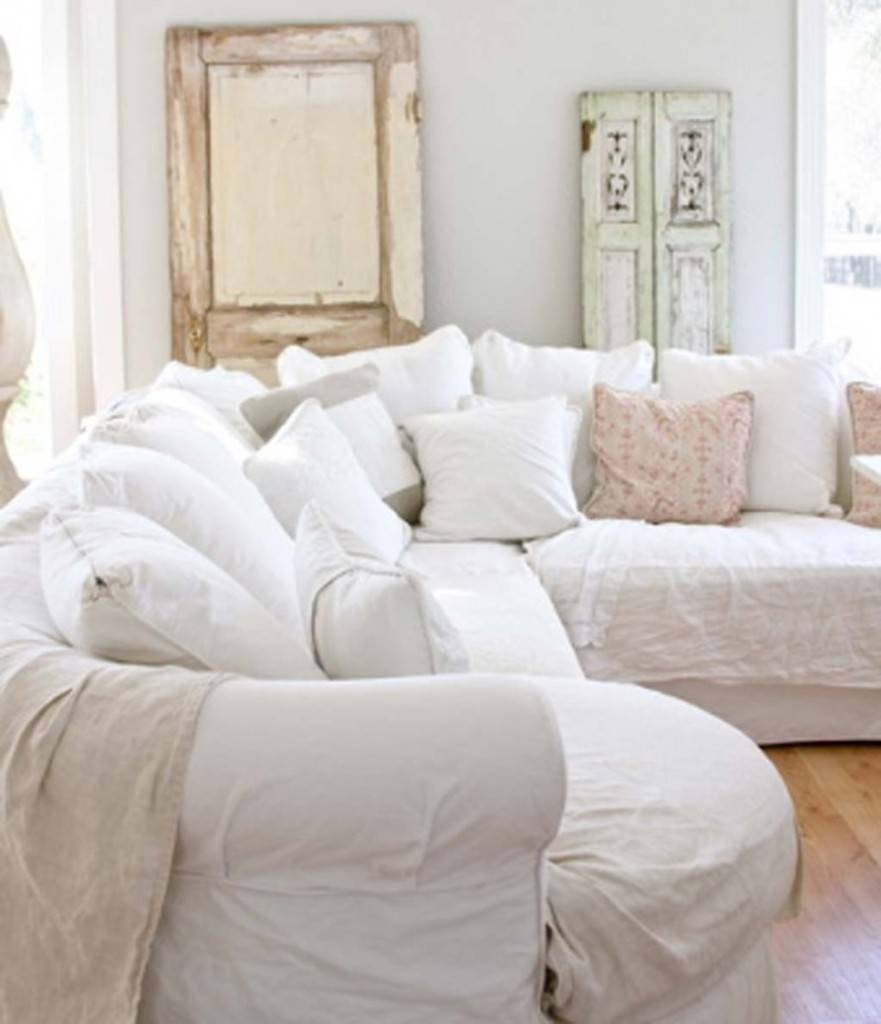 Stunning Shabby Chic Living Room Photos – Awesome Design Ideas Regarding Shabby Chic Sectional Couches (View 15 of 15)