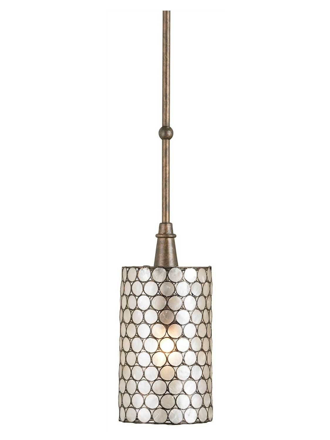Stunning Shell Pendant Light For Interior Decor Concept Capiz throughout Shell Light Shades Pendants (Image 14 of 15)