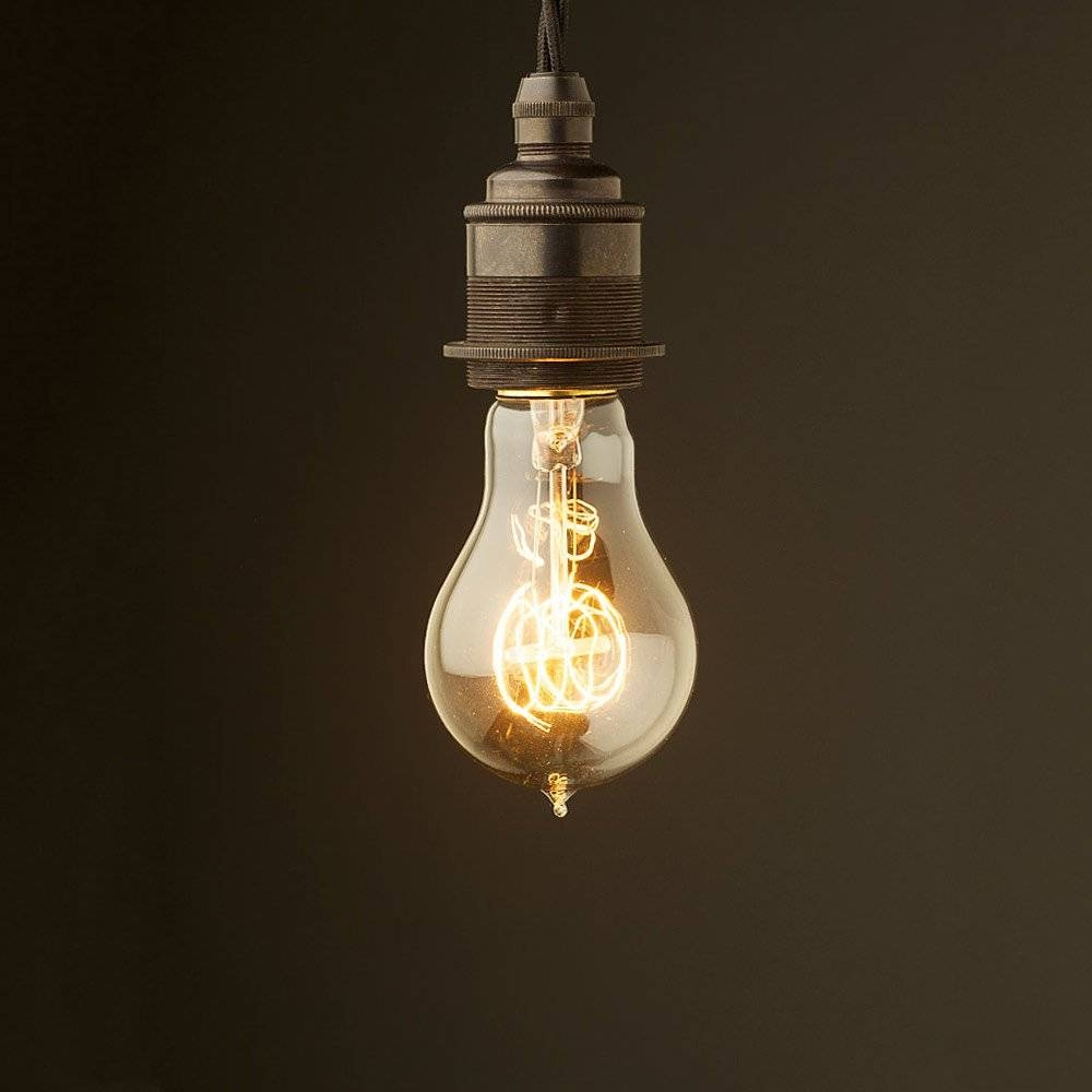 Style Light Bulb E27 Bronze Fitting regarding Bare Bulb Fixtures (Image 15 of 15)