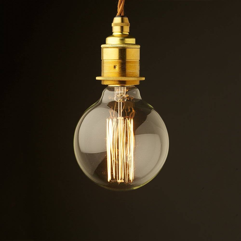 Style Light Bulb E27 New Brass Fitting pertaining to Bare Bulb Pendants (Image 14 of 15)