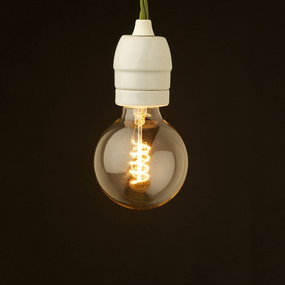 Style Light Bulb E27 White Porcelain Fitting throughout Bare Bulb Pendant Lighting (Image 15 of 15)