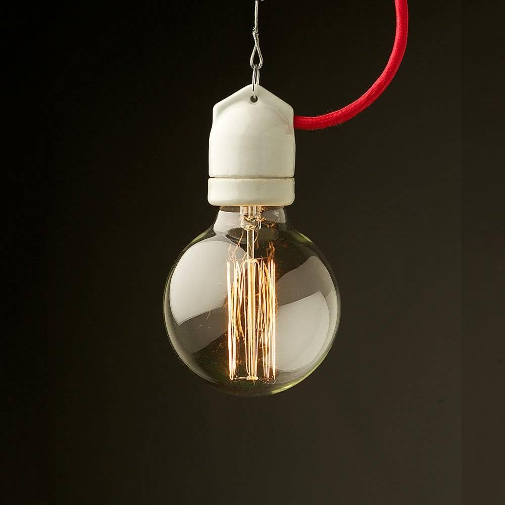 Style Light Bulb E27 White Side Entry Porcelain Fitting within Bare Bulb Pendants (Image 15 of 15)