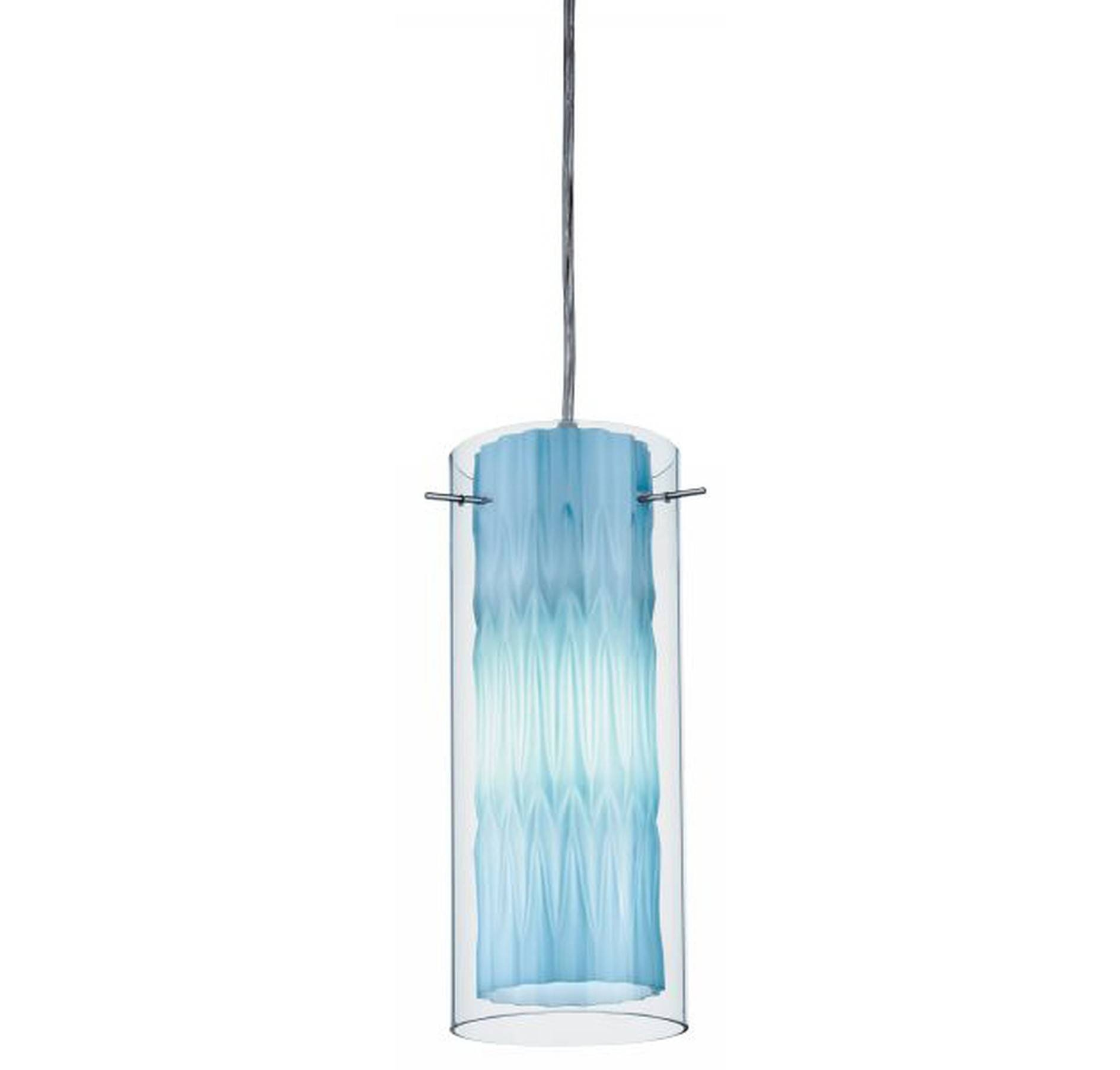 Stylish Blue Glass Pendant Light Related To House Decorating inside Turquoise Blue Glass Pendant Lights (Image 12 of 15)