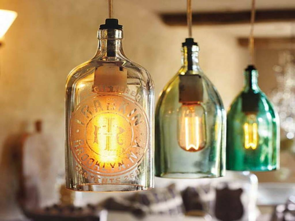Stylish Cool Hanging Lights 10 Cool Diy Pendant Lamps Suitable For  throughout Liquor Bottle Pendant Lights