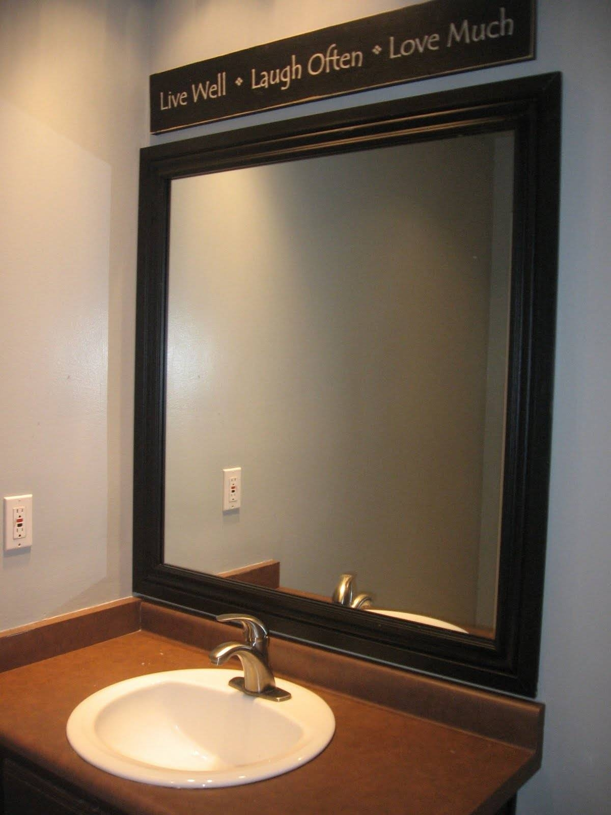 Stylish Framed Bathroom Mirrors | Home Designjohn pertaining to Large Brown Mirrors (Image 14 of 15)