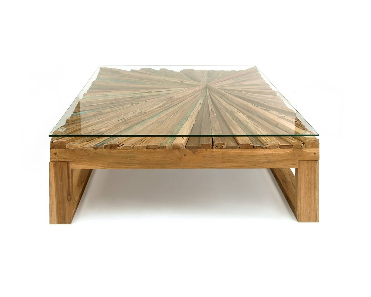 Sunburst Rustic Coffee Table - Eco-Friendly Furniture for Rustic Wooden Coffee Tables (Image 14 of 15)