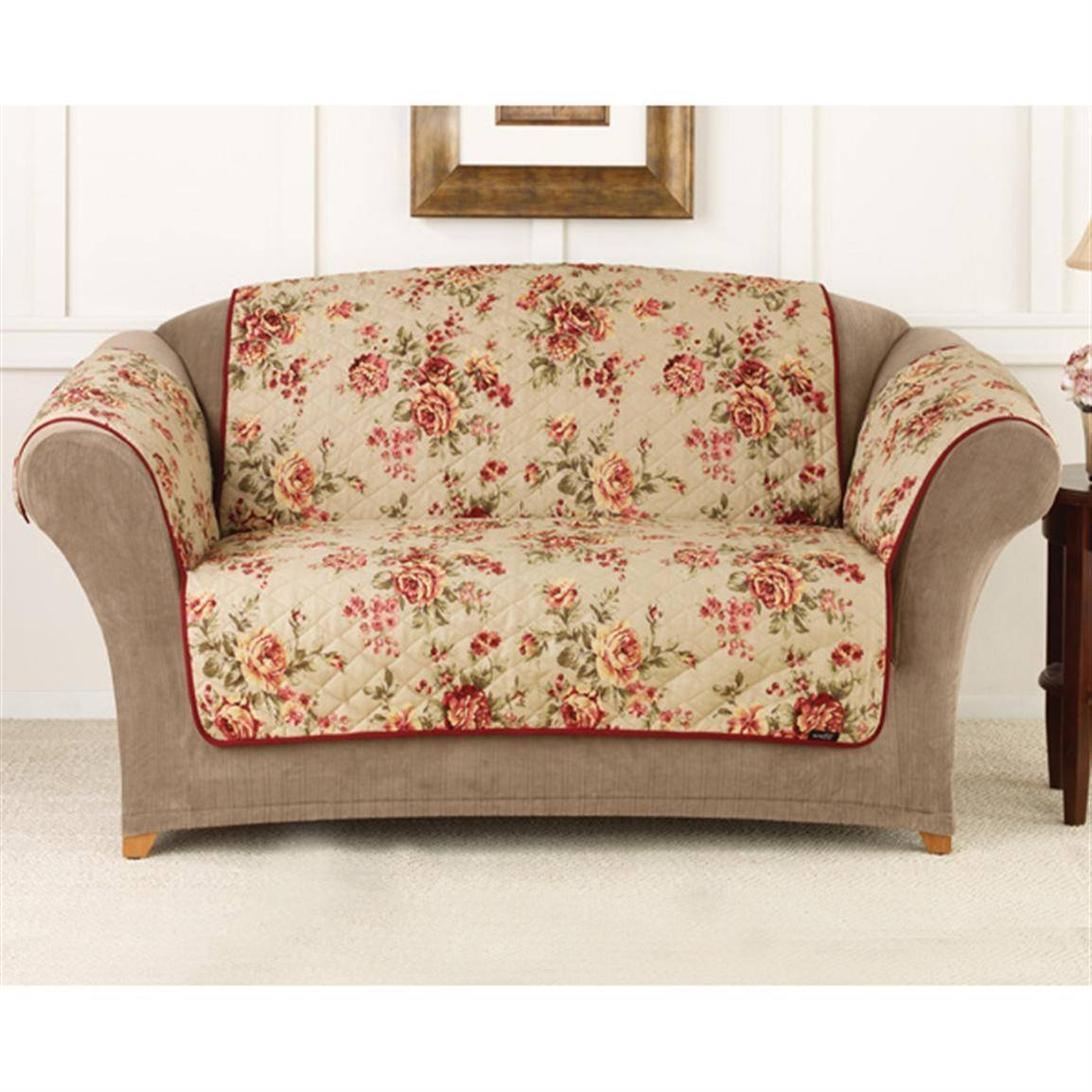 Sure Fit® Lexington Floral Sofa Pet Cover - 292857, Furniture intended for Floral Sofa Slipcovers (Image 13 of 15)