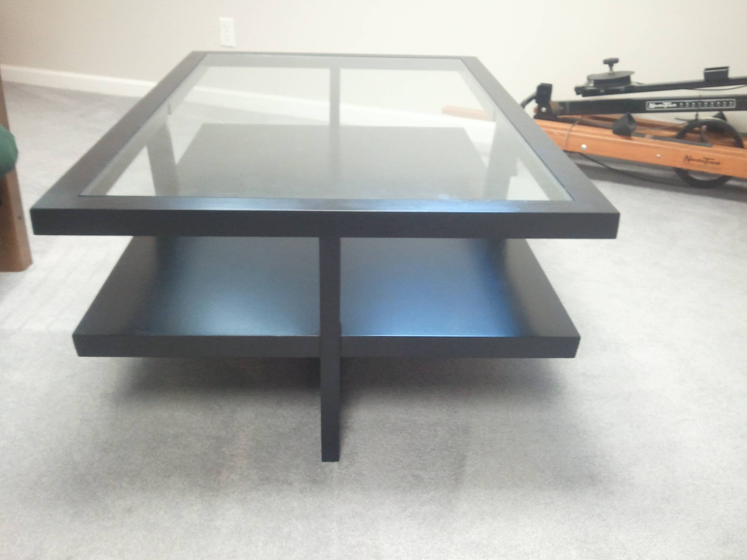 Table : Modern Black Glass Coffee Table Modern Compact Modern in Modern Black Glass Coffee Table (Image 14 of 15)