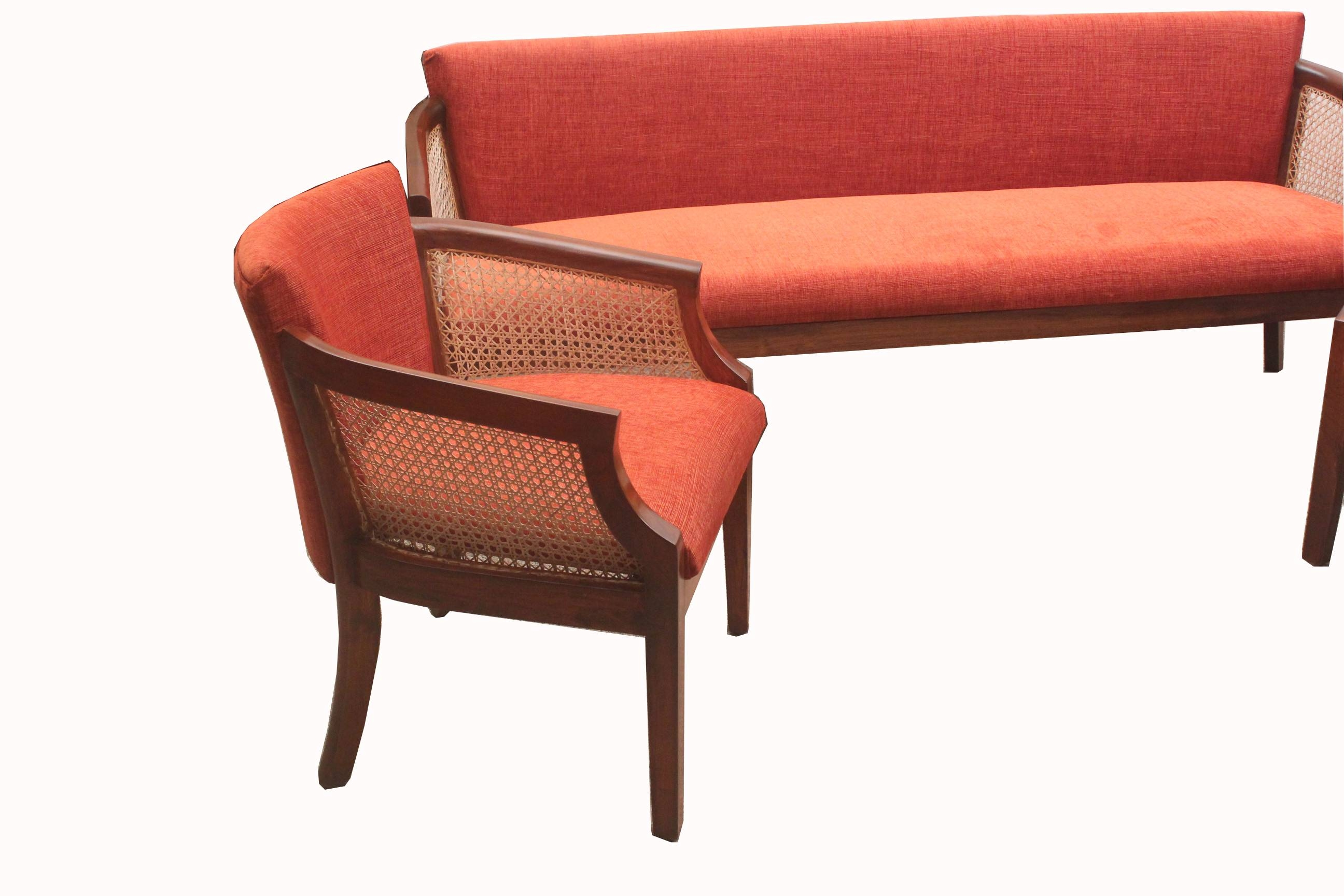 Teakwood Cushion Cane Sofa Set (Ws 98) Details | Bic Furniture India within Cane Sofas (Image 13 of 15)