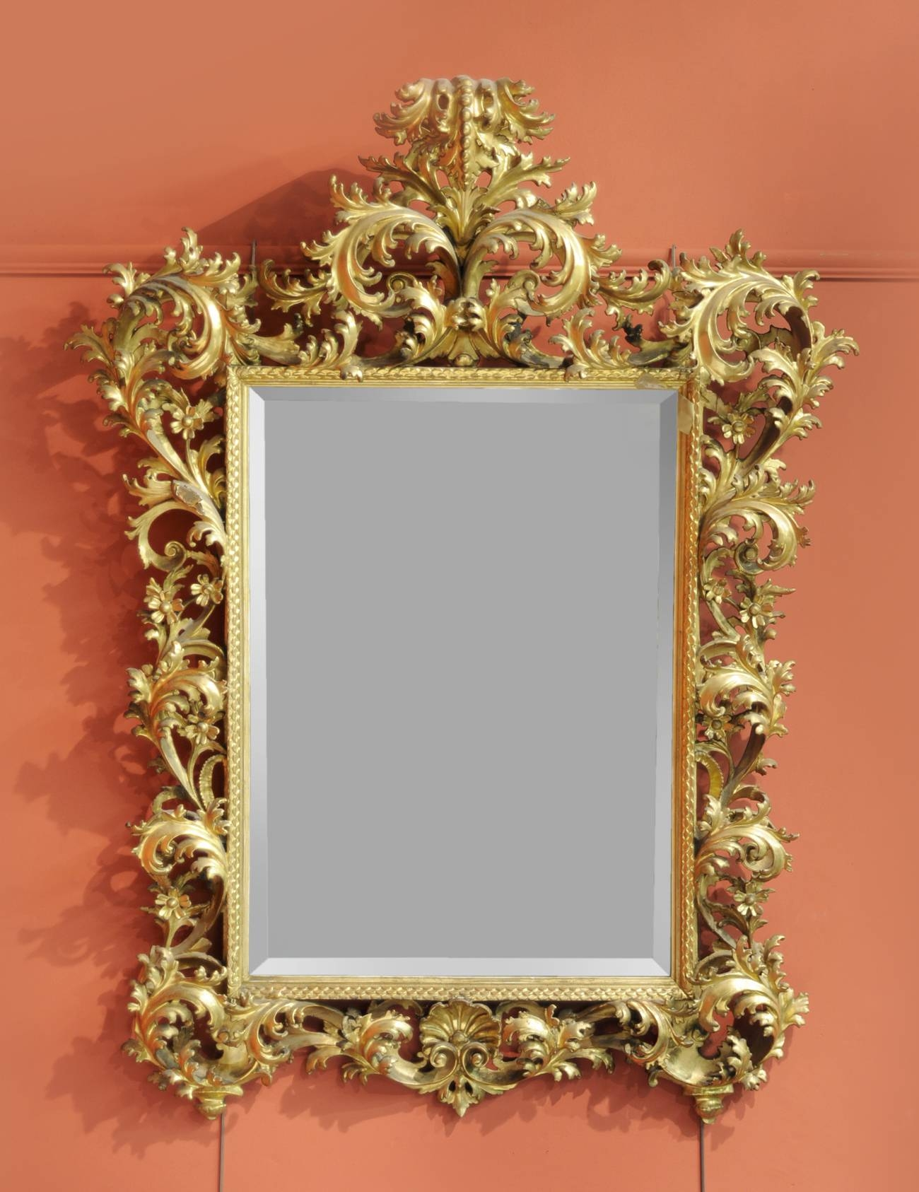 Tennants Auctioneers: A Rococo Style Giltwood And Gesso Wall Mirror throughout Rococo Style Mirrors (Image 11 of 15)