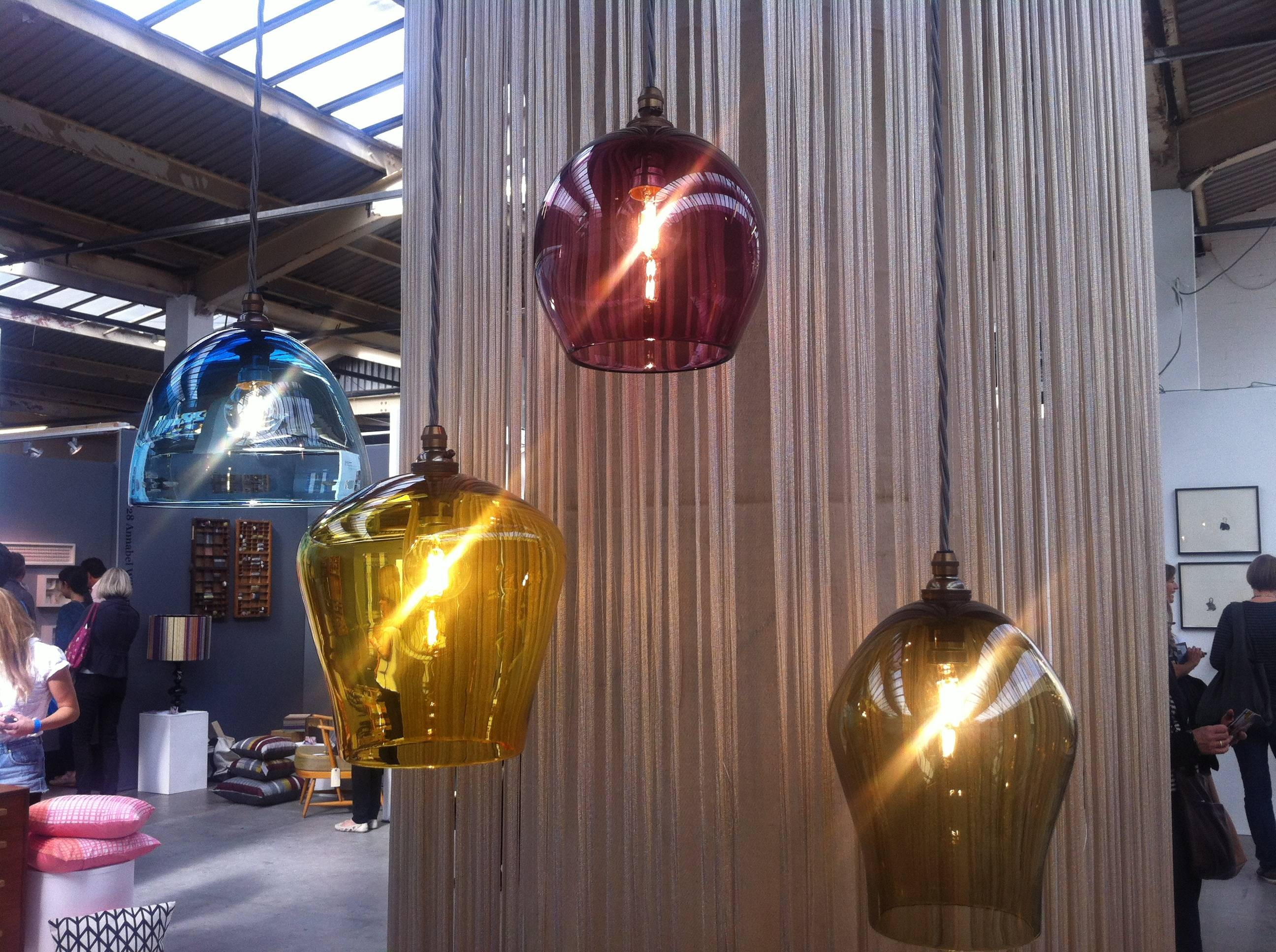Tent London 2012- What Caught My Eyeinterior Designer Anna Ward in Coloured Glass Pendants (Image 15 of 15)