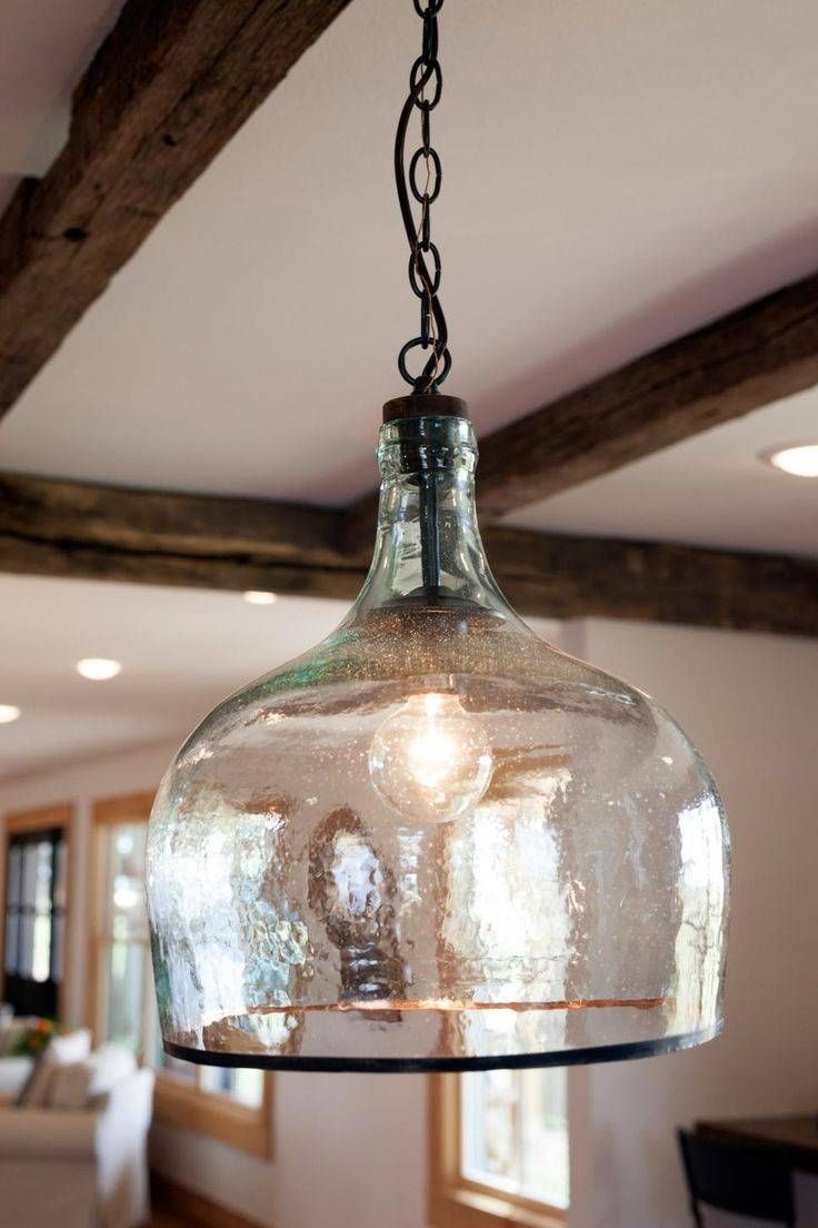 The 25+ Best Glass Pendant Light Ideas On Pinterest | Kitchen With French Style Glass Pendant Lights (View 2 of 15)