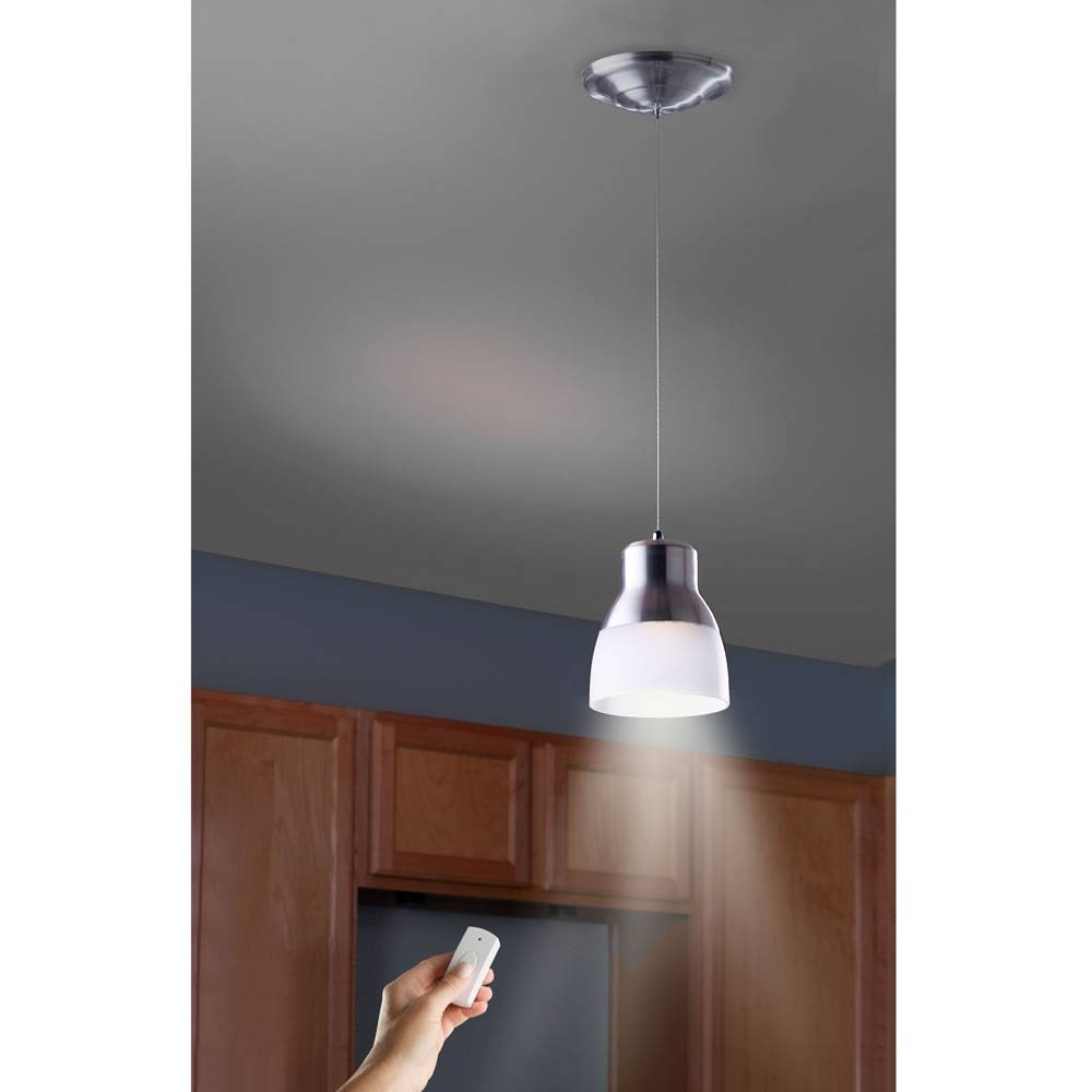 The Battery Powered Led Pendant Light – Hammacher Schlemmer With Regard To Battery Operated Pendant Lights (View 4 of 15)
