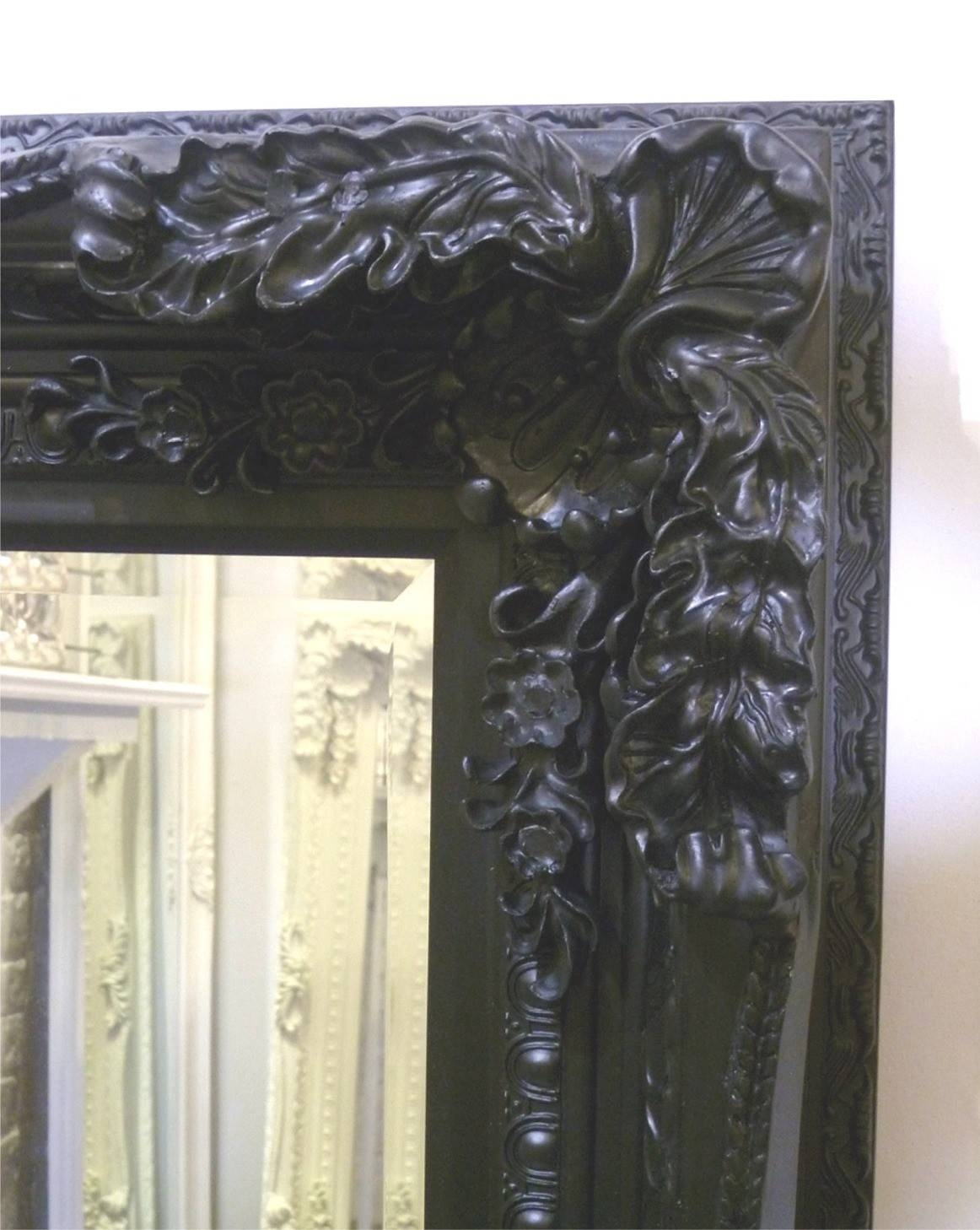 The Best Value Black Chelsea Ornate Mirrors Online. intended for Black Ornate Mirrors (Image 10 of 15)