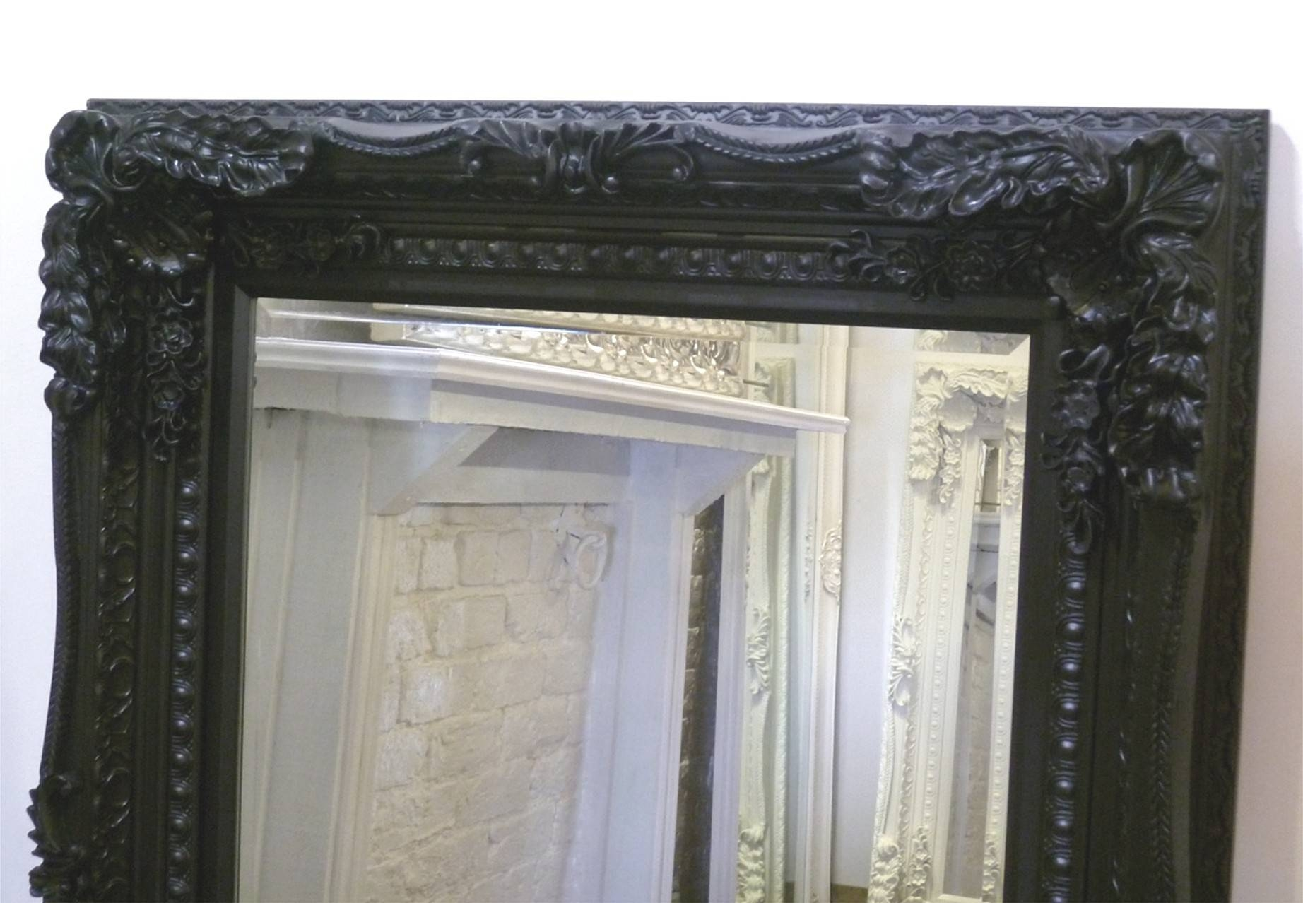 The Best Value Black Chelsea Ornate Mirrors Online. pertaining to Black Ornate Mirrors (Image 11 of 15)