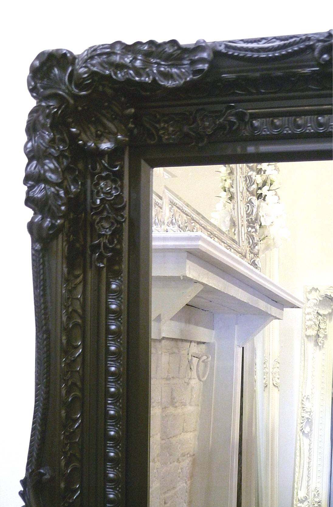 The Best Value Black Chelsea Ornate Mirrors Online. with Black Ornate Mirrors (Image 12 of 15)