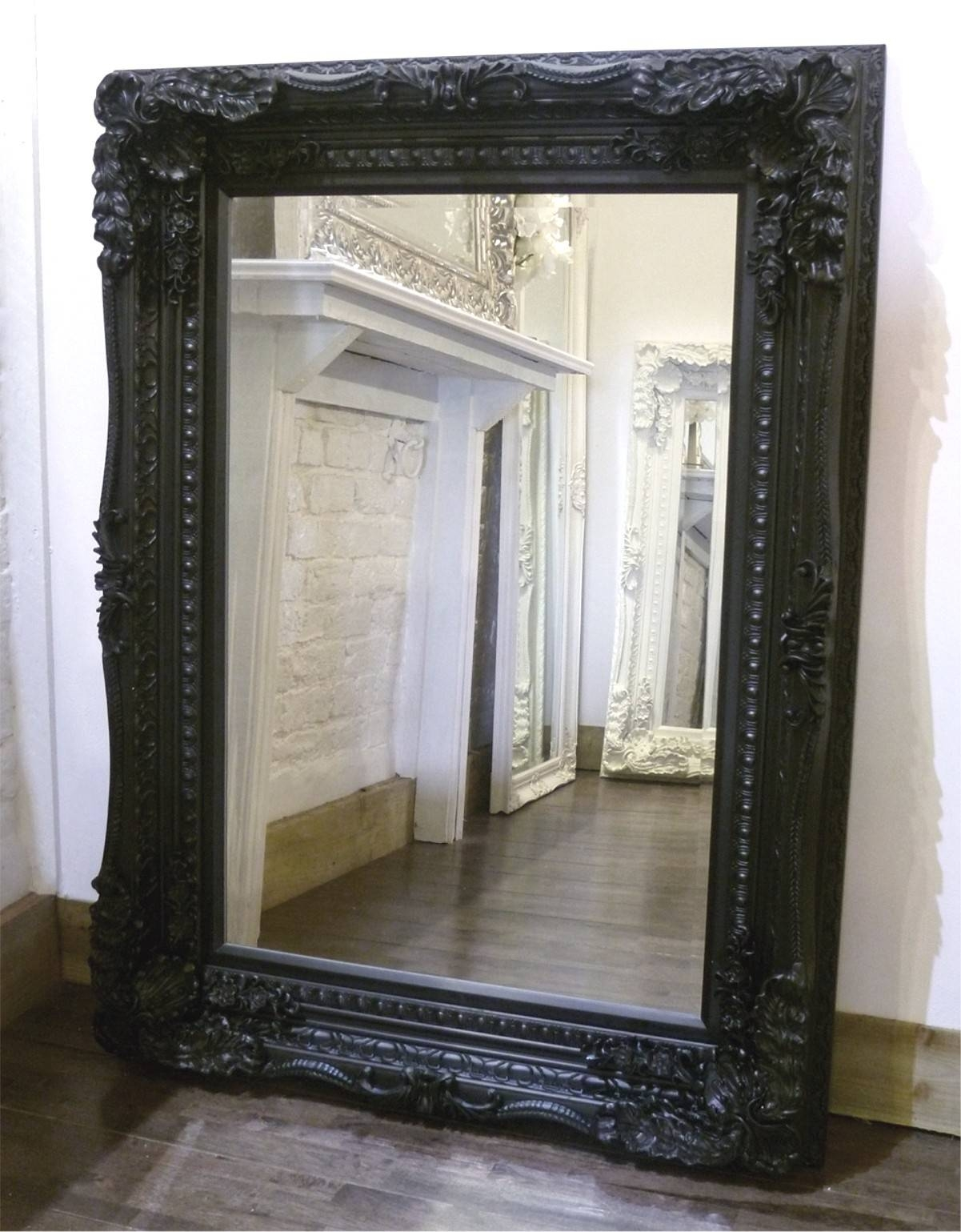 The Best Value Black Chelsea Ornate Mirrors Online. with regard to Black Ornate Mirrors (Image 13 of 15)