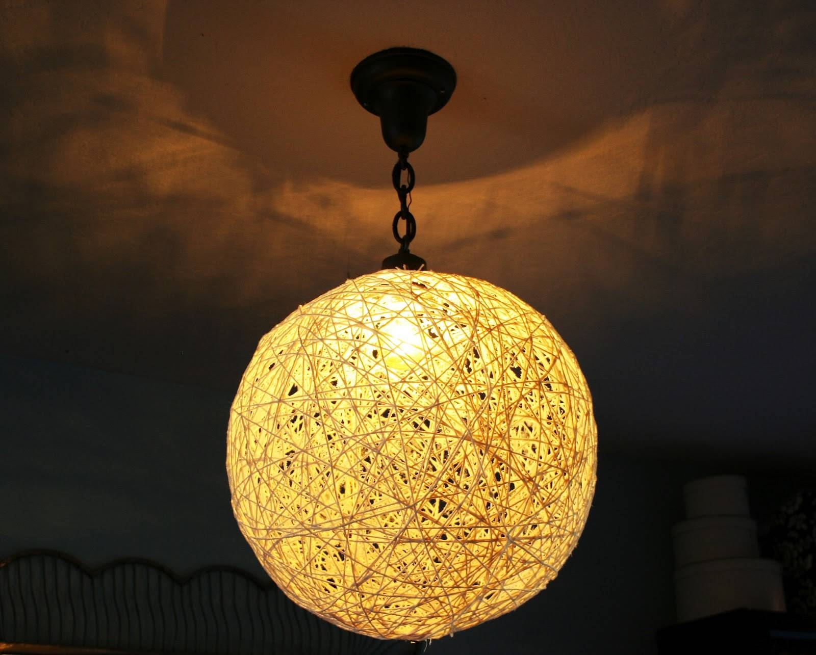 The Plumed Nest: Make: String Pendant Light in Diy Yarn Lights (Image 14 of 15)