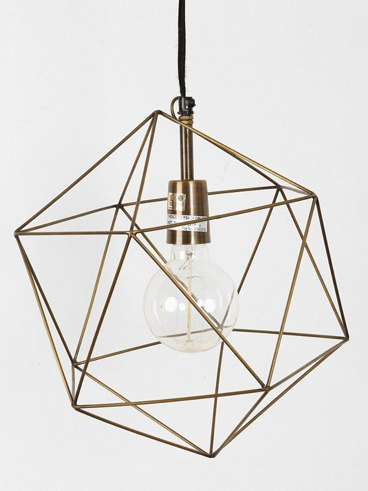 The Ra Ra Home: Brass + Geometry within Dodecahedron Pendant Lights (Image 14 of 15)