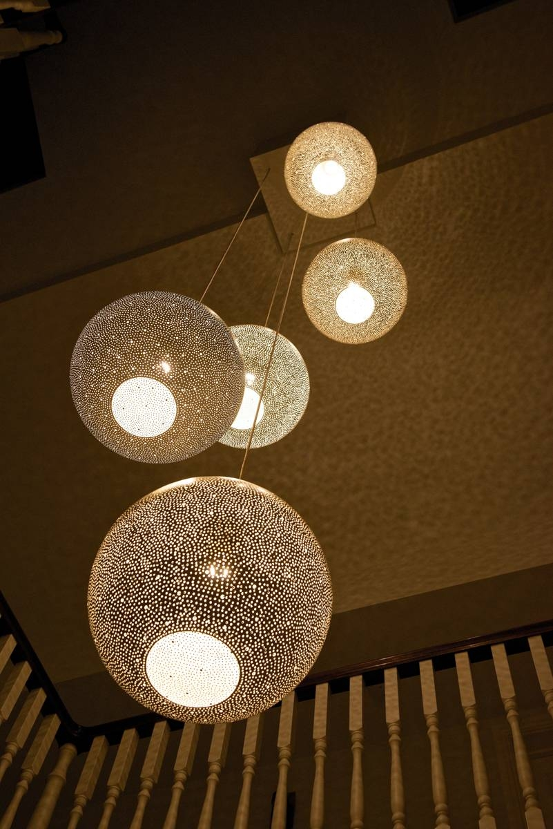 The Rita 400 White Pendant Light|Designedlight inside Pendant Lights For Stairwell (Image 14 of 15)