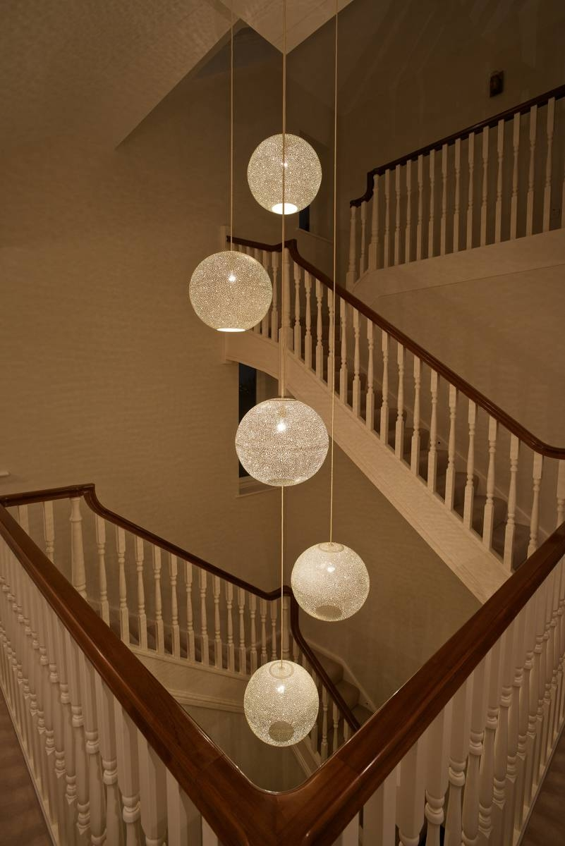 The Rita 400 White Pendant Light|Designedlight with Pendant Lights for Stairwell (Image 15 of 15)