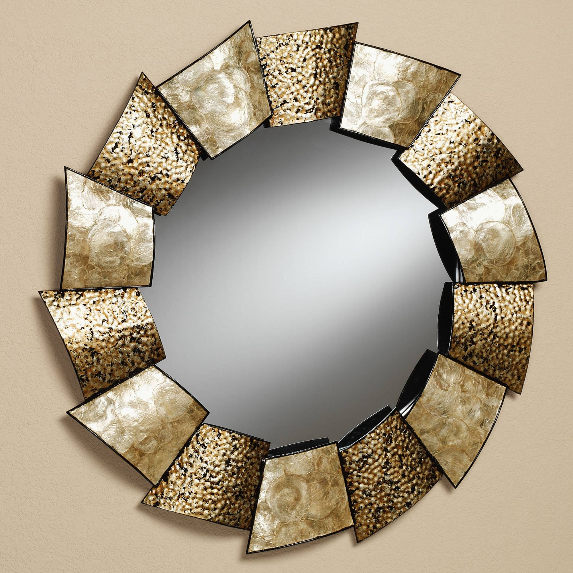 These Round Mirrors On The Wall Add A Focal Point In This Living with Unique Round Mirrors (Image 14 of 15)