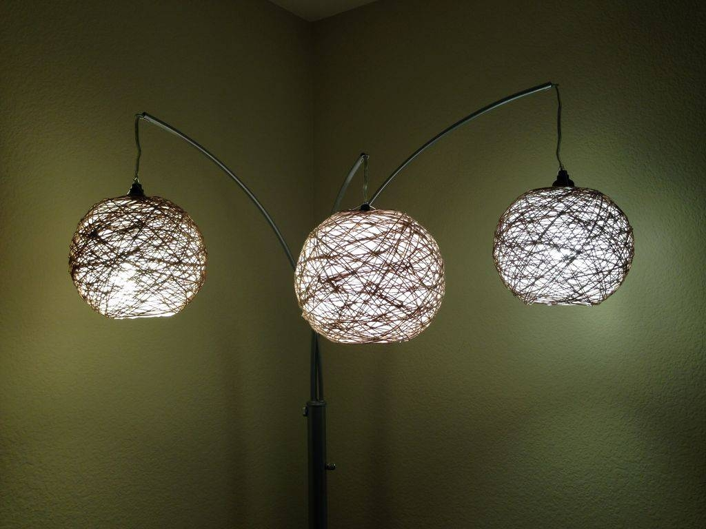 Thread Lampshade: 6 Steps (With Pictures) pertaining to Diy Yarn Lights (Image 15 of 15)