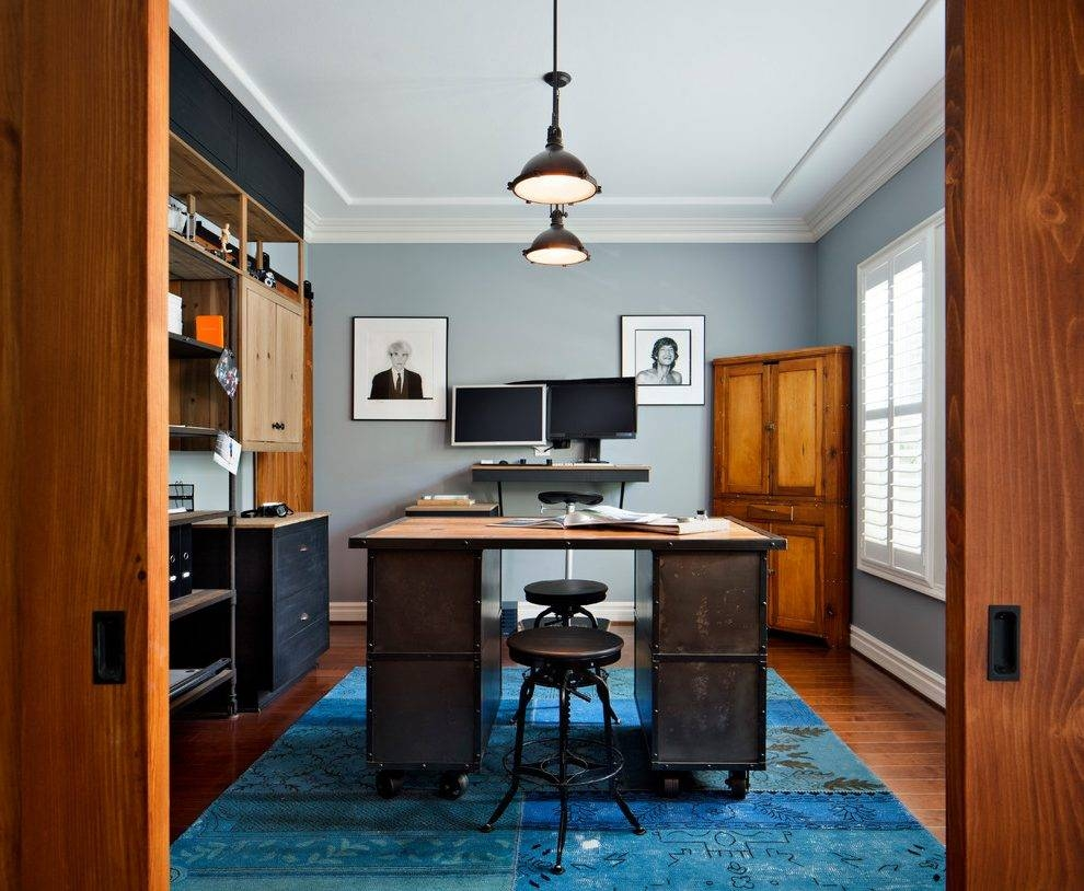 Threshold Industrial Barstool Home Office Industrial With intended for Threshold Pendant Lights (Image 14 of 15)