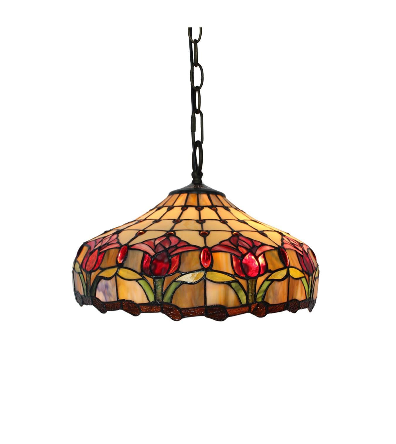 Tiffany Lighting | Temple & Webster inside Coloured Glass Pendant Lights (Image 15 of 15)