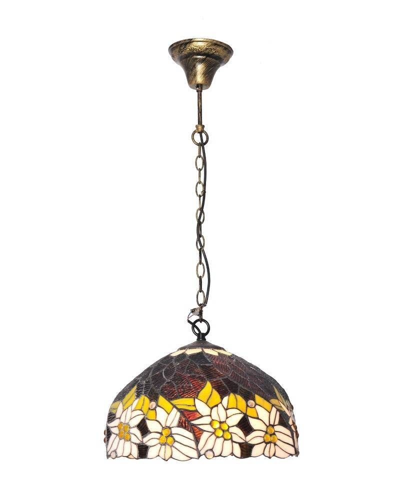 Tiffany Style Stained Glass Pendant Light With Lotus Patterns Throughout Stained Glass Pendant Light Patterns (View 11 of 15)