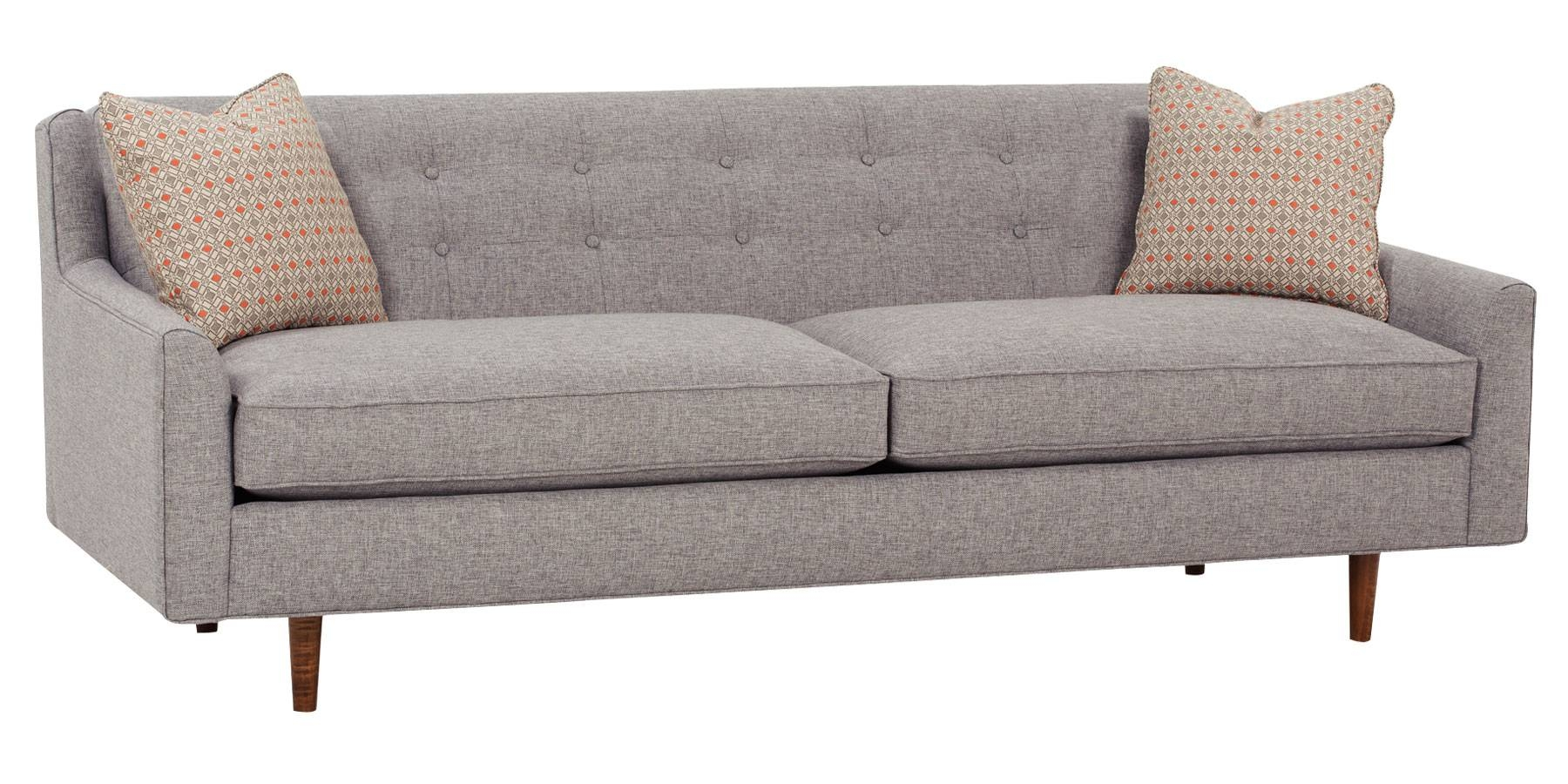 Tight Back Sofa. . Bay Bridge Traditional Rolled Back Sofa regarding Tight Back Sectional Sofas (Image 14 of 15)
