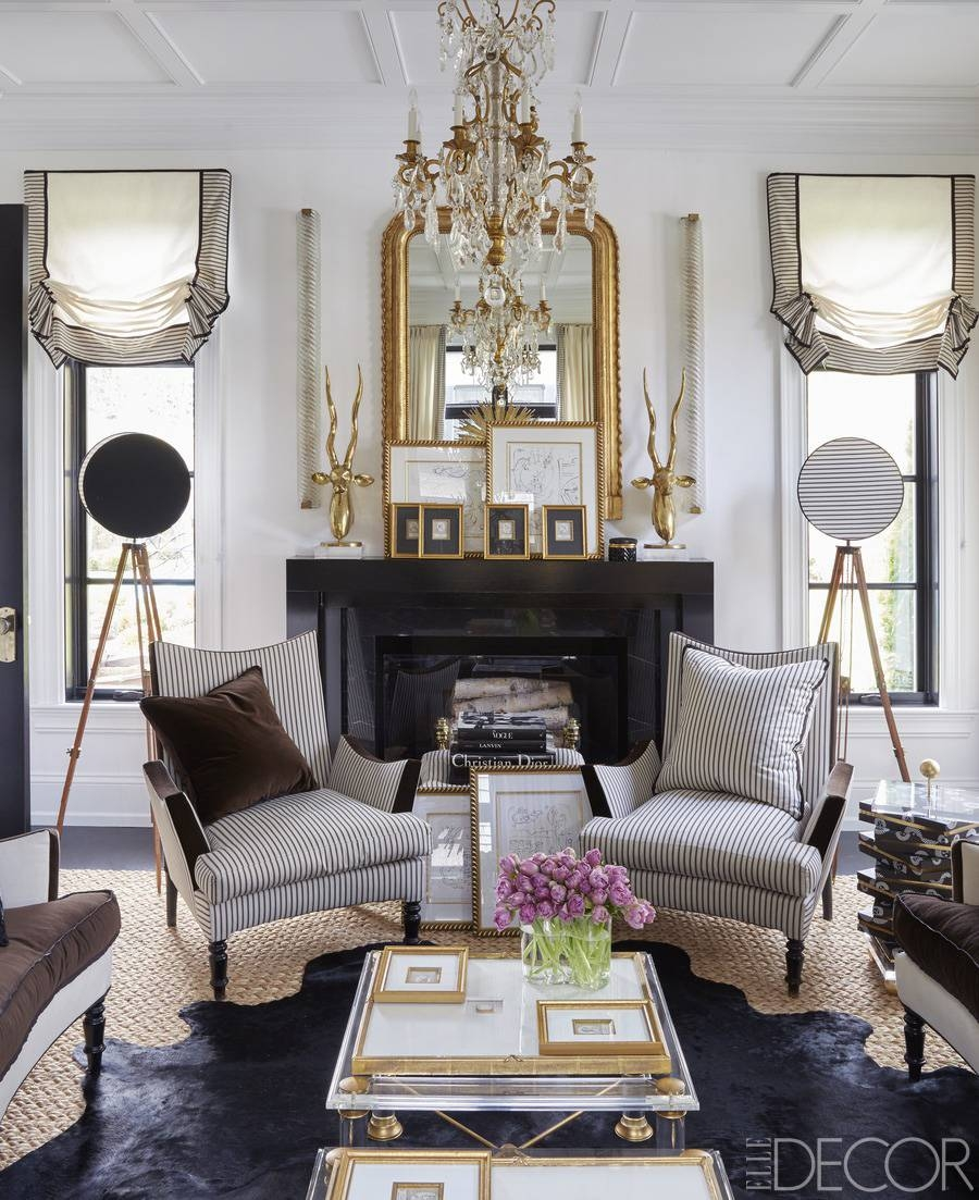 Top 10 Most Gorgeous Living Spaces Featuring Stunning Mirrors regarding Gold Mantle Mirrors (Image 14 of 15)