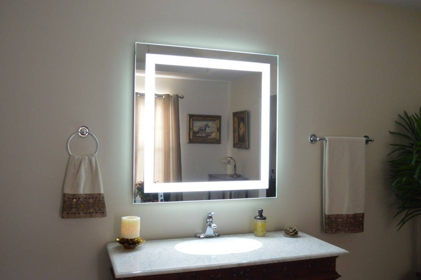 Top 10 Wall Lighted Makeup Mirror 2017 | Warisan Lighting with Wall Light Mirrors (Image 10 of 15)