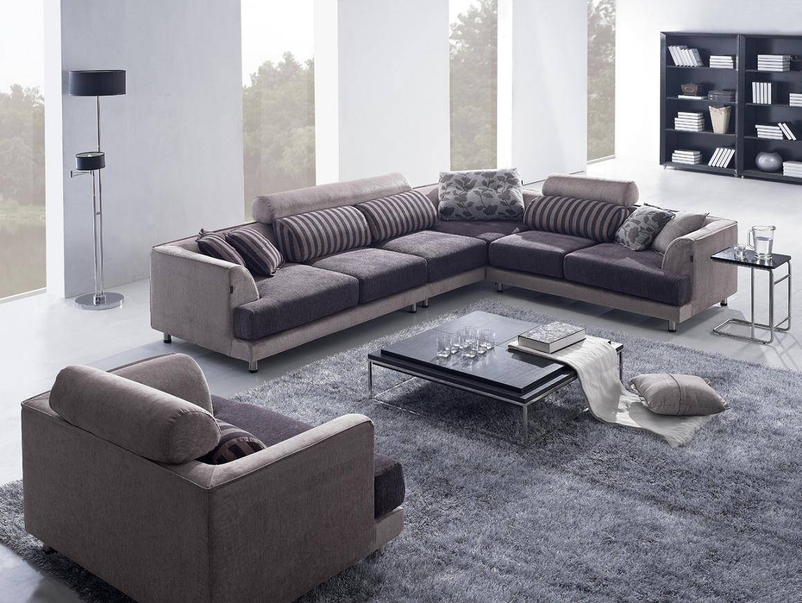 Tosh Furniture Modern Beige Fabric Sectional Sofa W/ Chair – Flap With Tosh Sectional Sofas (View 2 of 15)