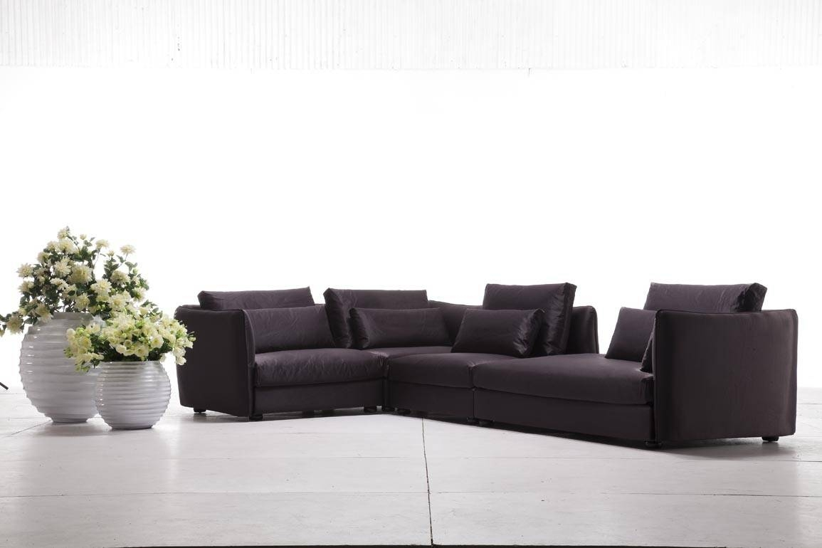 Tosh Furniture Modern Purple Fabric Sectional Sofa - Flap Stores in Tosh Sectional Sofas (Image : tosh sectional - Sectionals, Sofas & Couches