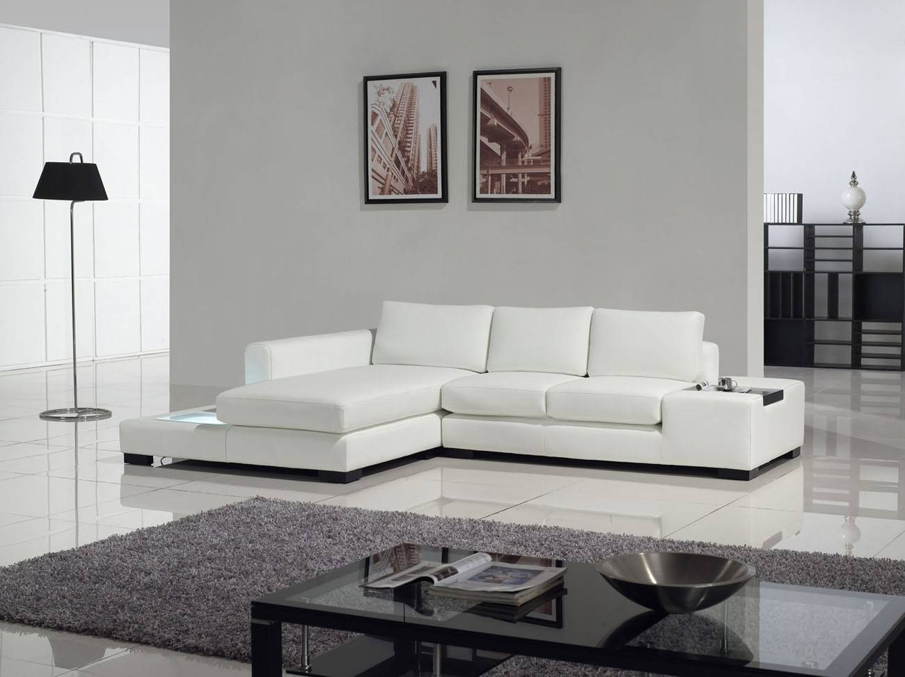 Tosh Furniture Modern White Compact Leather Sectional Sofa – Flap With Tosh Furniture Sectional Sofas (View 12 of 15)