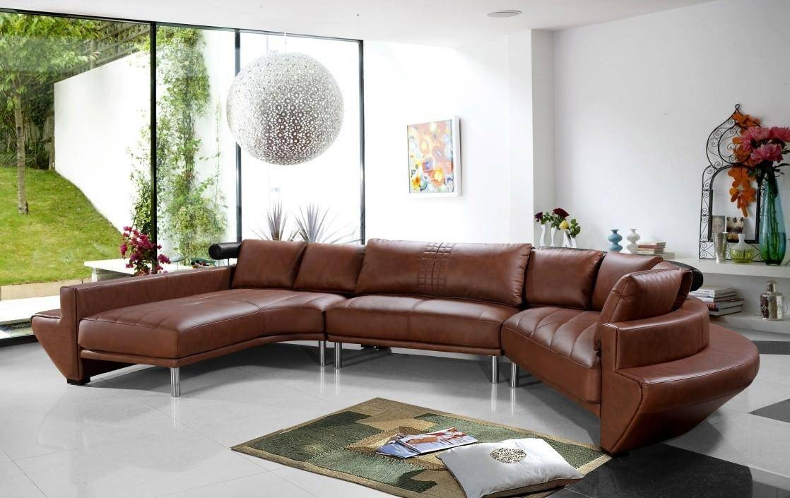 Tosh Furniture Ultra Modern Dark Brown Leather Sectional Sofa Set Throughout Tosh Sectional Sofas (View 12 of 15)