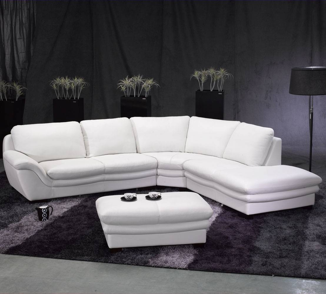 Tosh Furniture White Leather Sectional Sofa And Ottoman – Flap Stores With Tosh Sectional Sofas (View 5 of 15)