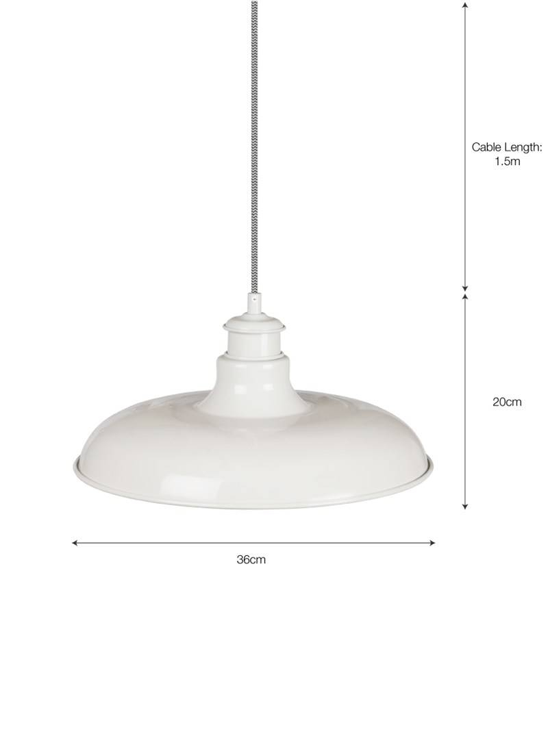 Toulon Pendant Light In Chalk - Steel | Garden Trading intended for Toulon Pendant Lights (Image 14 of 15)