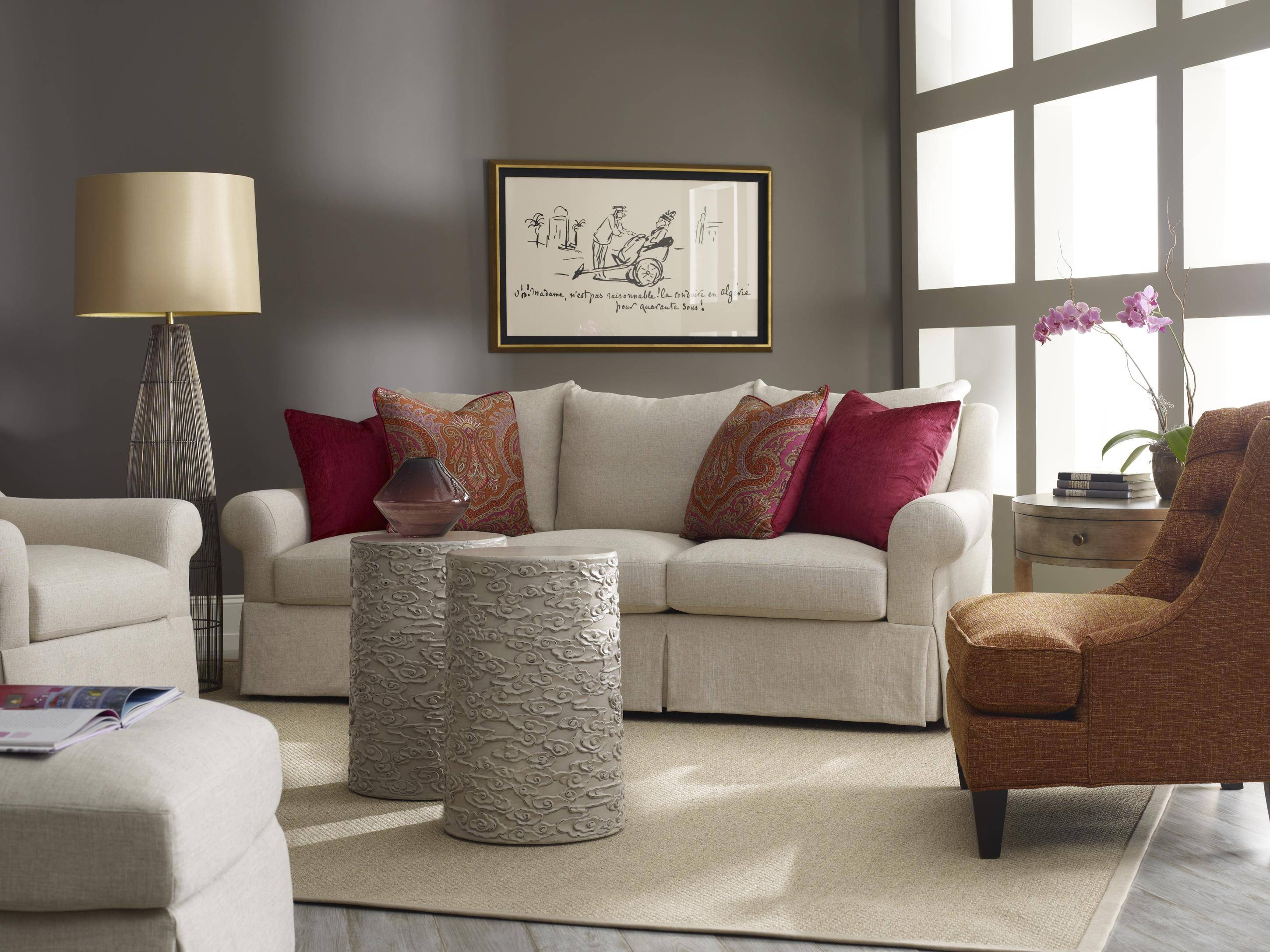 Traditional Skirted Three Over Three Sofasam Moore | Wolf And With Sam Moore Sofas (View 8 of 15)