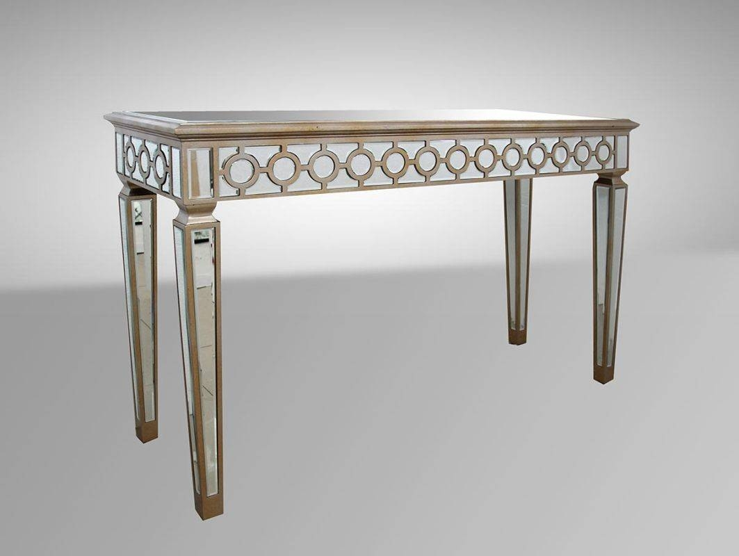 Transitional Mirrored Console Table in Mirrors Console Table (Image 15 of 15)
