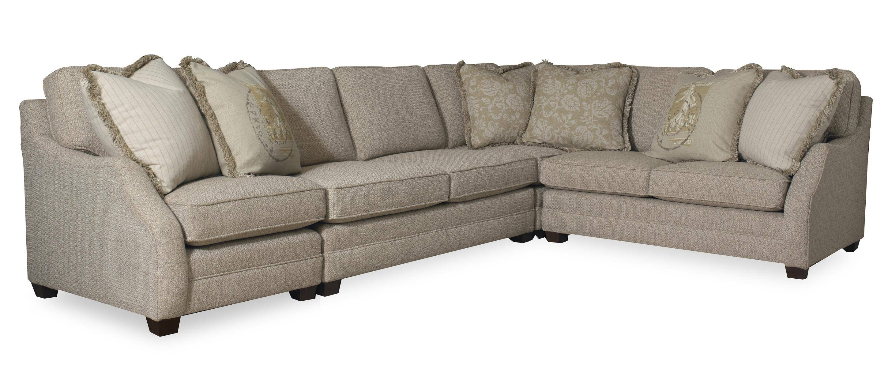 Transitional Three Piece Sectional Sofa With Raf Sofa Return regarding Sam Moore Sofas (Image 15 of 15)
