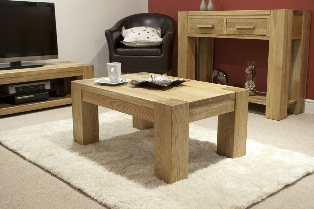 Trend Solid Oak Small Coffee Table | Oak Furniture Uk With Regard To Small Oak Coffee Tables (View 15 of 15)