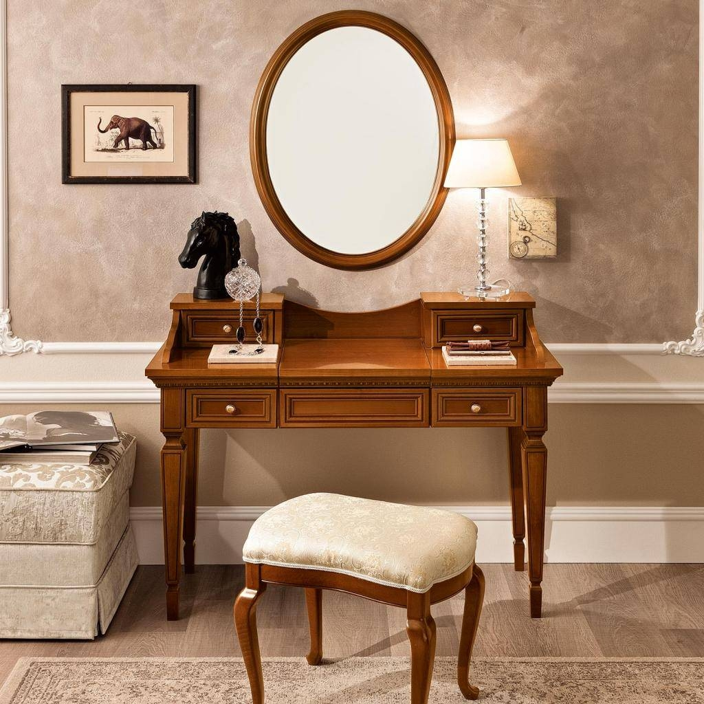 Treviso Ornate Ivory Ash Wood 4 Drawer Dressing Table Mirror Throughout Ornate Dressing Table Mirrors (View 12 of 15)
